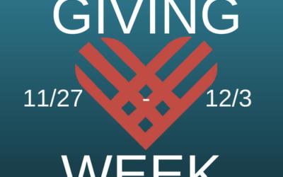 #GivingWeek 11/27 – 12/3